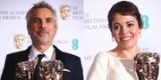 Olivia Colman och Romas regissör Alfonso Cuaron TT
