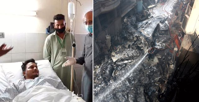 Muhammad Zubair på sjukhuset/flygplansvraket. TT