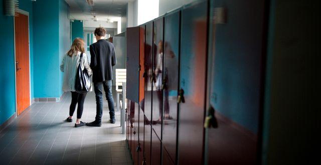 Två skolelever.  JESSICA GOW / TT / TT NYHETSBYRÅN