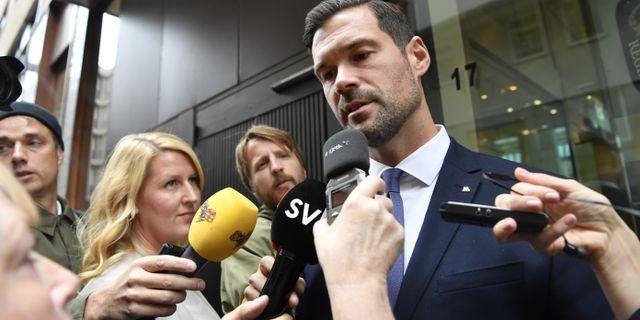 Moderaternas rättspolitiska talesperson Johan Forssell.  Jessica Gow/TT / TT NYHETSBYRÅN