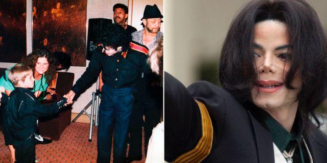 """Bild från dokumentären """"Leaving Neverland"""" och Michael Jackson.  AP/TT"""
