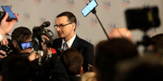 Polens premiärminister. Petr David Josek / TT NYHETSBYRÅN