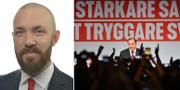 Riksdagsledamoten Magnus Manhammar och statsminister Stefan Löfven.  TT