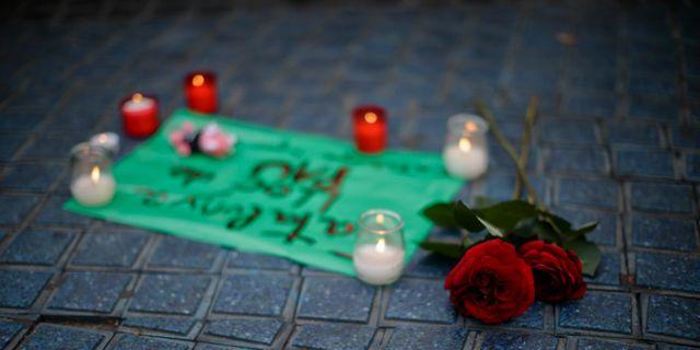Minnesplats för offren i Barcelona. Manu Fernandez / TT / NTB Scanpix