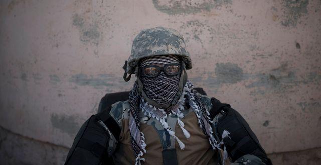Talibansk fängelsevakt i Kabul, Afghanistan. Felipe Dana / TT NYHETSBYRÅN