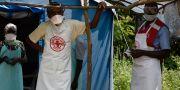 Sjukvårdspersonal i Kongo-Kinshasa. ISAAC KASAMANI / AFP