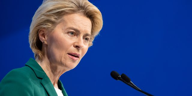 EU-kommissionens ordförande Ursula von der Leyen. Arkivbild. Gian Ehrenzeller / TT NYHETSBYRÅN