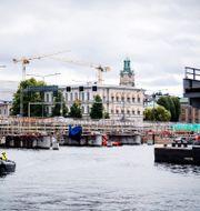 Bygget av getingmidjan. Erik Simander/TT / TT NYHETSBYRÅN