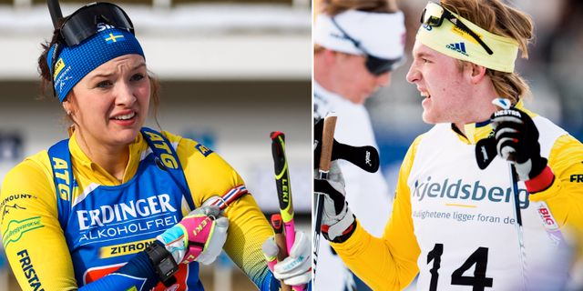 Linn Persson och Sebastian Samuelsson.  Bildbyrån.