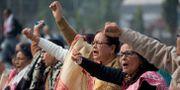 Demonstranter i Gauhati, Indien.  Anupam Nath / TT NYHETSBYRÅN