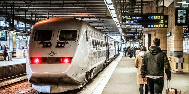 Arkivbild: Tågresenärer vid Stockholm central. Tomas Oneborg/SvD/TT / TT NYHETSBYRÅN