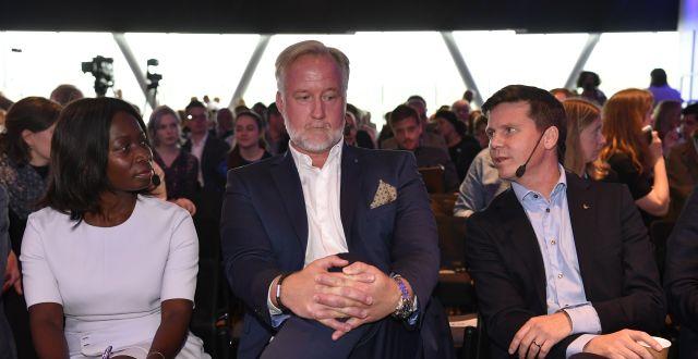 Nyamko Sabuni (L), Johan Pehrson (L) och Erik Ullenhag (L) Henrik Montgomery/TT / TT NYHETSBYRÅN