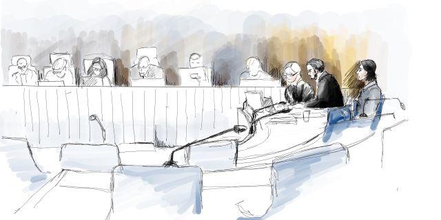 Illustration från rättegången vid Uddevalla tingsrätt Ingela Landström /TT / TT NYHETSBYRÅN