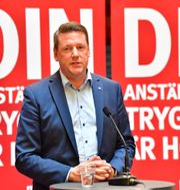 Kommunals ordförande Tobias Baudin Jonas Ekströmer/TT / TT NYHETSBYRÅN