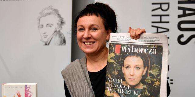 Olga Tokarczuk. Martin Meissner / TT NYHETSBYRÅN