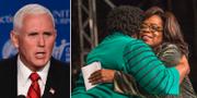 Mike Pence/Stacey Abrams och Oprah Winfrey. TT