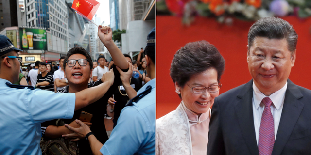 Kina varnar for protester under os