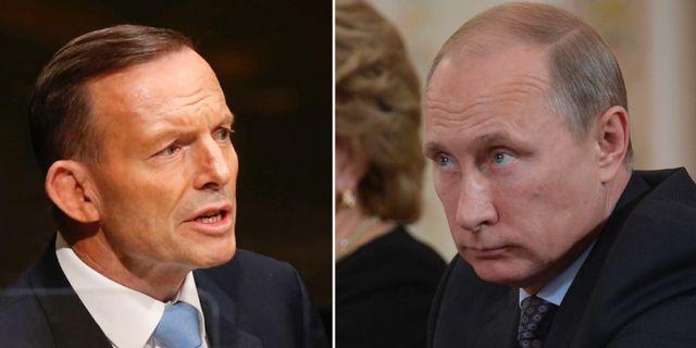 Tony Abbott, Vladimir Putin. TT