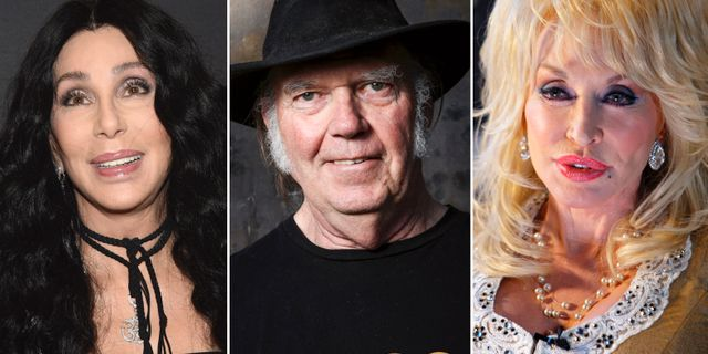 Cher/Neil Young/Dolly Parton. TT