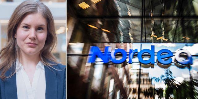 Presskommunikatören Mikaela Östman.  Nordea och TT