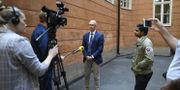 Rikard Larsson intervjuas 7 juli/Arkivbild. Ali Lorestani/TT / TT NYHETSBYRÅN