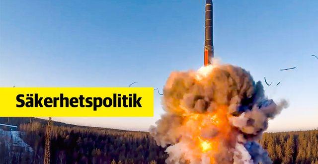 En interkontinental kryssningsrobot avfyras i Ryssland.  TT