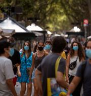 Las Ramblas i Barcelona.  Emilio Morenatti / TT NYHETSBYRÅN