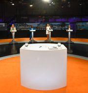 Bild från SVT-studion.  Henrik Montgomery/TT / TT NYHETSBYRÅN