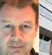 Mikael Petersson och polishuset i Karlskrona. TT
