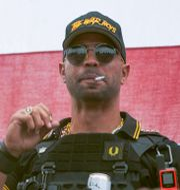 Enrique Tarrio, ledare för Proud Boys i USA. Allison Dinner / TT NYHETSBYRÅN