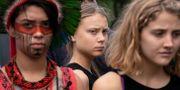 Greta Thunberg vid en tidigare klimatdemonstration i Washington DC. J. Scott Applewhite / TT NYHETSBYRÅN