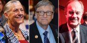 Walmartarvtagaren Alice Walton, Microsoftgrundaren Bill Gates och H&M-toppen Stefan Persson är alla med på listan över de 100 rikaste i världen. Wikimedia/TT