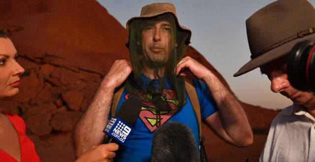James Martin, en av de sista att bestiga klippan. SAEED KHAN / AFP