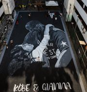 Kobe Bryant och dottern Gianna. MARIA TAN / AFP
