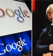 Googles logotyp, Ed Sheeran.  TT.