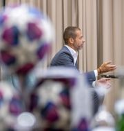 Aleksander Ceferin. Manu Fernandez/AP/ TT NYHETSBYRÅN