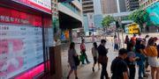 Hongkongbörsen. Vincent Yu / TT NYHETSBYRÅN
