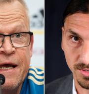 Janne Andersson och Zlatan Ibrahimovic. Bildbyrån