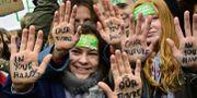 Bild från klimatprotesten i Berlin förra helgen. Arkivbild. TOBIAS SCHWARZ / AFP