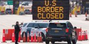 Gränsen mellan USA och Kanada. LARS HAGBERG / TT NYHETSBYRÅN
