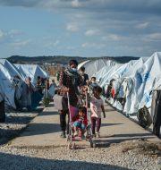 Arkivbild: Kara Tepe-lägret på Lesbos Panagiotis Balaskas / TT NYHETSBYRÅN