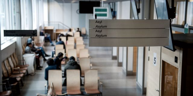 Väntsal på Migrationsverket i Solna.  Marcus Ericsson/TT / TT NYHETSBYRÅN