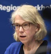Maria Rotzén Östlund, smittskyddsläkare i Region Stockholm. Carl-Olof Zimmerman/TT / TT NYHETSBYRÅN