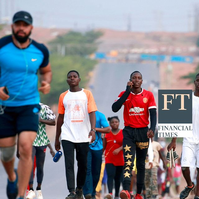 People are seen during an exercise session, as the authorities struggle to contain the coronavirus disease (COVID19) spread in Abuja, Nigeria April 13, 2020.  Shutterstock