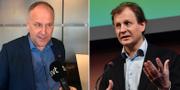 Jonas Sjöstedt (V), Carl Schlyter (PV). Arkivbilder. TT Nyhetsbyrån.