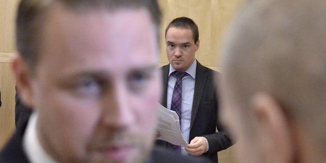 Kent Ekeroth i bakgrunden Claudio Bresciani/TT / TT NYHETSBYRÅN