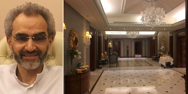 Prinsen och storinvesteraren Alwaleed bin Talal/Bilder inifrån Ritz-Carlton.  TT