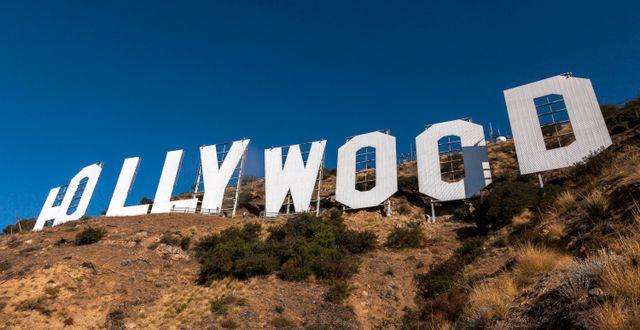 Hollywood-skylten i Los Angeles, USA. Damian Dovarganes / TT NYHETSBYRÅN