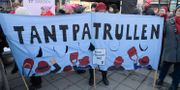 Tantpatrullen demonstrerar. Arkivbild. Janerik Henriksson/TT / TT NYHETSBYRÅN