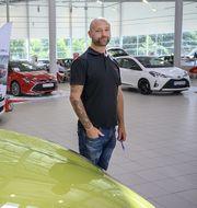 Magnus Bäckström, verkstadschef på Toyota center Göteborg. TT.